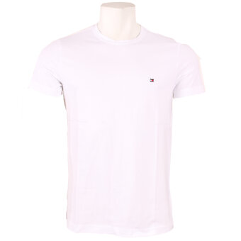 Tommy Hilfiger  - Tommy Hilfiger - New Stretch C-NK Tee | T-shirt Hvid