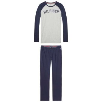 Tommy Hilfiger  - Tommy Hilfiger - Set LS Raglan | Pyjamas Grey Heather