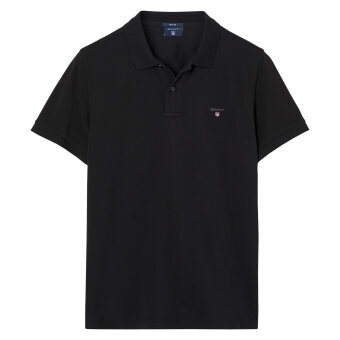 Gant - Gant - Solid Pique Rugger Polo | Polo T-shirt Sort
