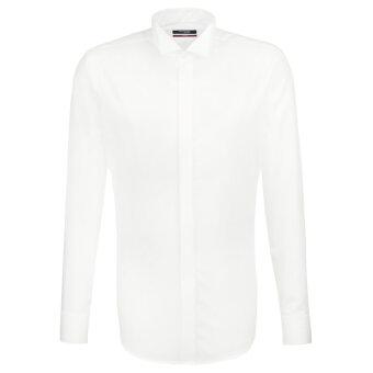 Seidensticker  - Seidensticker - Smoking Knækflip | Modern Fit Skjorte Hvid