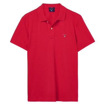 Gant - Gant - Solid Pique Rugger Polo | Polo T-shirt Bright Red