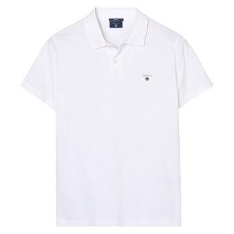 Gant - Gant - Solid Pique Rugger Polo | Polo T-shirt White