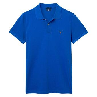 Gant - Gant - Solid Pique Rugger Polo | Polo T-shirt Nautical blue