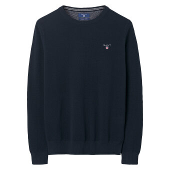 Gant - Gant - Cotton Pique Crew | Strik Evening Blue
