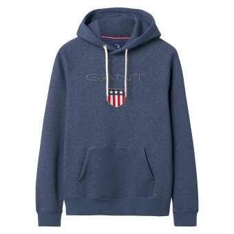 Gant - Gant - Shield Sweat Hoodie | Sweatshirt Dark Jeans Blue Mel