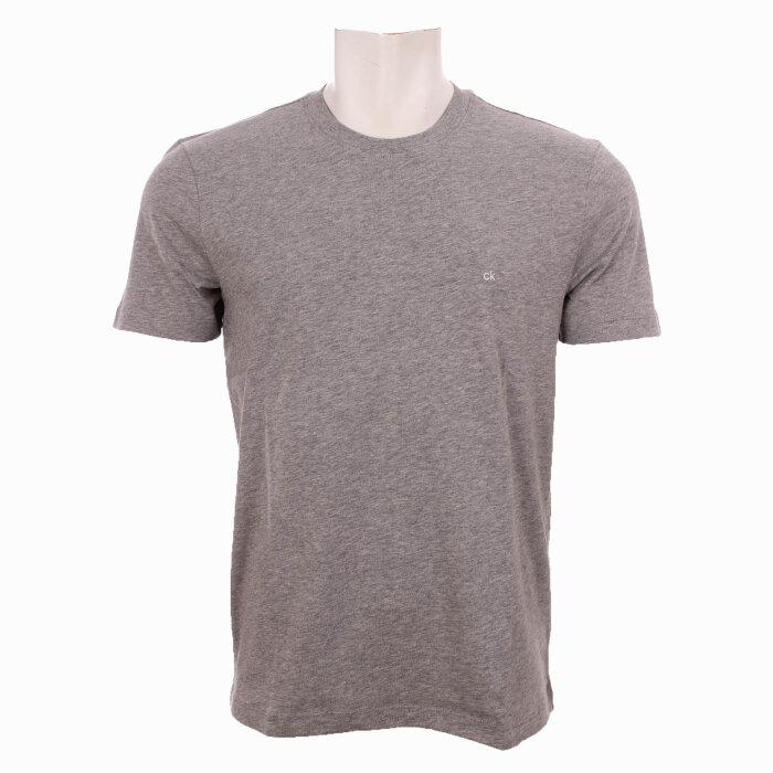 Calvin Klein  - Calvin Klein - Cotton Logo Embroidery T-Shirt   Midgrey