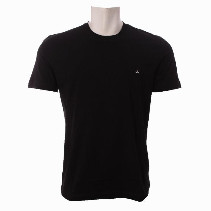 Calvin Klein  - Calvin Klein - Cotton Logo Embroidery T-Shirt   Black