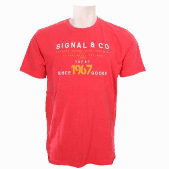 Signal - Signal - Gavin CP Tee   T-shirt Coral Red Melange