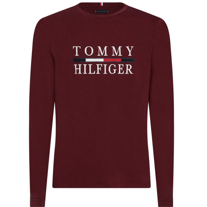 Tommy Hilfiger  - Tommy Hilfiger - Organic Long Sleeve | T-shirt Tawny Port