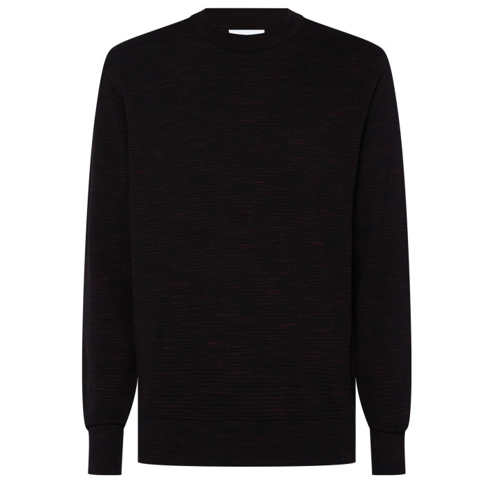 Calvin Klein  - Calvin Klein - Cool Wool Jumper | Strik Black