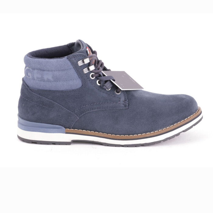 Tommy Hilfiger  - Tommy Hilfiger - Lace Up Suede Outdoor Boot | Støvle Midnight