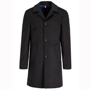 Tommy Hilfiger  - Tommy Hilfiger - Tailored Wool Blend | Uldfrakke Charcoal