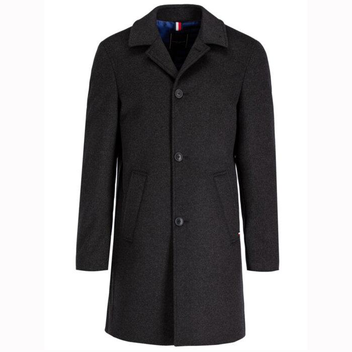 Tommy Hilfiger  - Tommy Hilfiger - Tailored Wool Blend   Uldfrakke Charcoal
