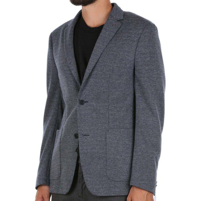 Calvin Klein  - Calvin Klein - Two Tone Jersey | Blazer Calvin Navy