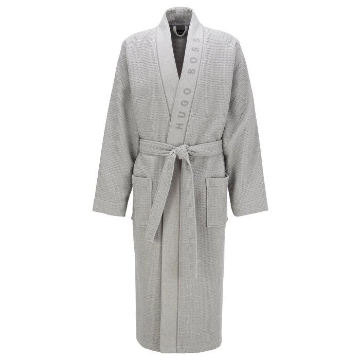 Hugo Boss - Hugo Boss - Waffle Structured Dressing Gown   Badekåbe Grå