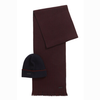 Hugo Boss - Hugo Boss - Hat & Scarf Set tørklæde & Hue dark Blue