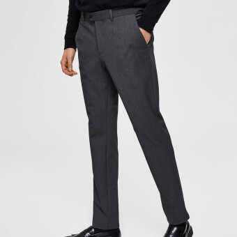 Selected - Selected - Carlo Flex Pants | Slim Pants Grey Melange