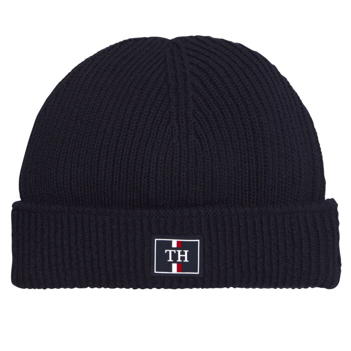Tommy Hilfiger  - Tommy Hilfiger - Th Patch Logo Beanie | Hue Sky Captain