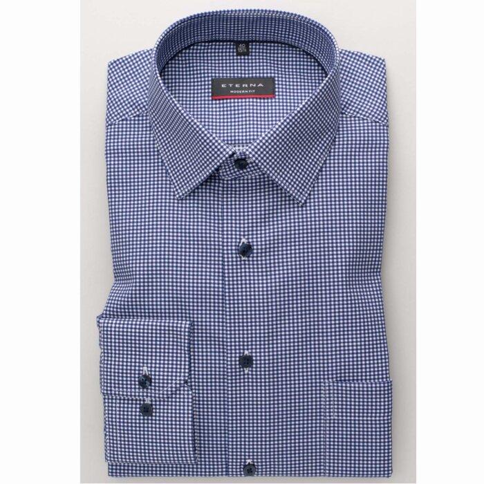 Eterna - Eterna - 3720 M | Modern fit skjorte 17 Blå