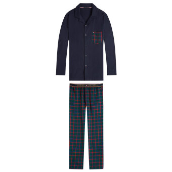 Tommy Hilfiger  - Tommy Hilfiger - Long Sleeve Check |  Pyjamas Navy Boctanical