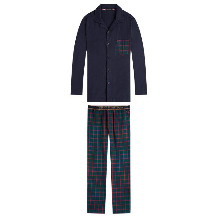 Tommy Hilfiger  - Tommy Hilfiger - Long Sleeve Check |  Pyjamas Navy Boctanical