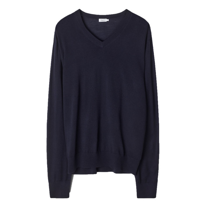 Filippa K - Filippa K - V-Neck | Strik Navy