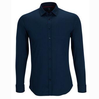 Desoto - Desoto - Slim Fit 21020 | Jersey Skjorte 57 Navy