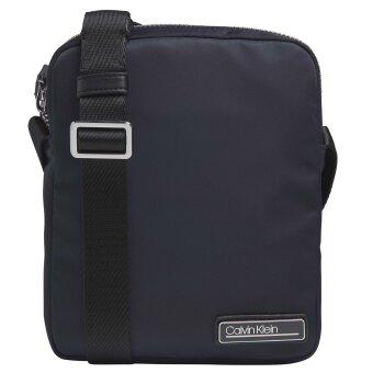Calvin Klein  - Calvin Klein - Satin Nylon Twill Crossbody Bag | Navy