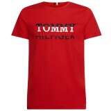 Tommy Hilfiger  - Tommy Hilfiger - Corp texture | T-shirt Primary Red