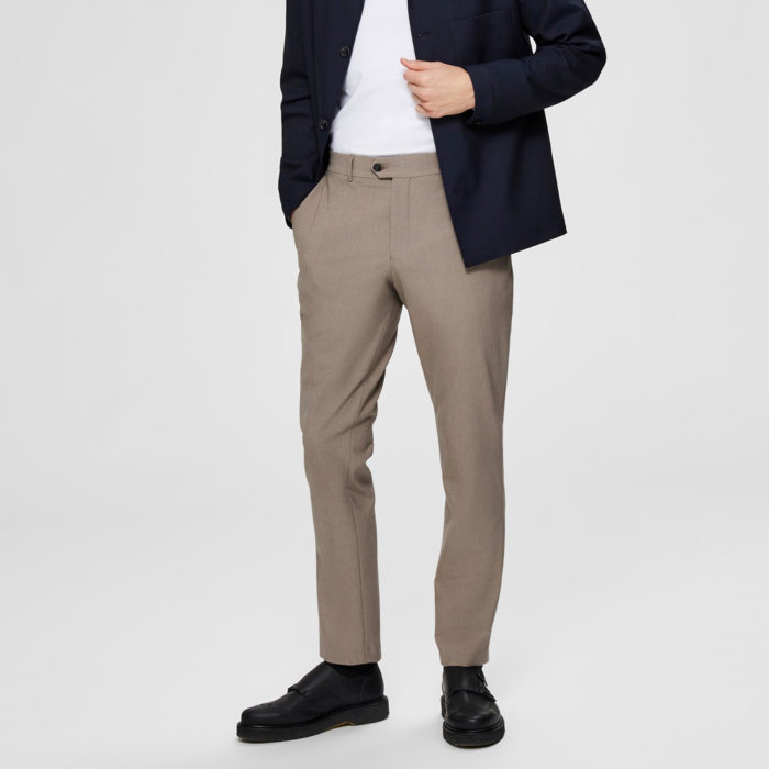 Selected - Selected - Carlo Flex Pants | Slim Pants Sand