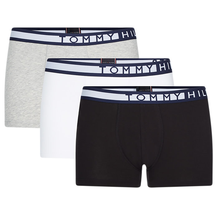 Tommy Hilfiger  - Tommy Hilfiger - Statement Waistband 3 Pack | Trunk Sort Hvid Grå