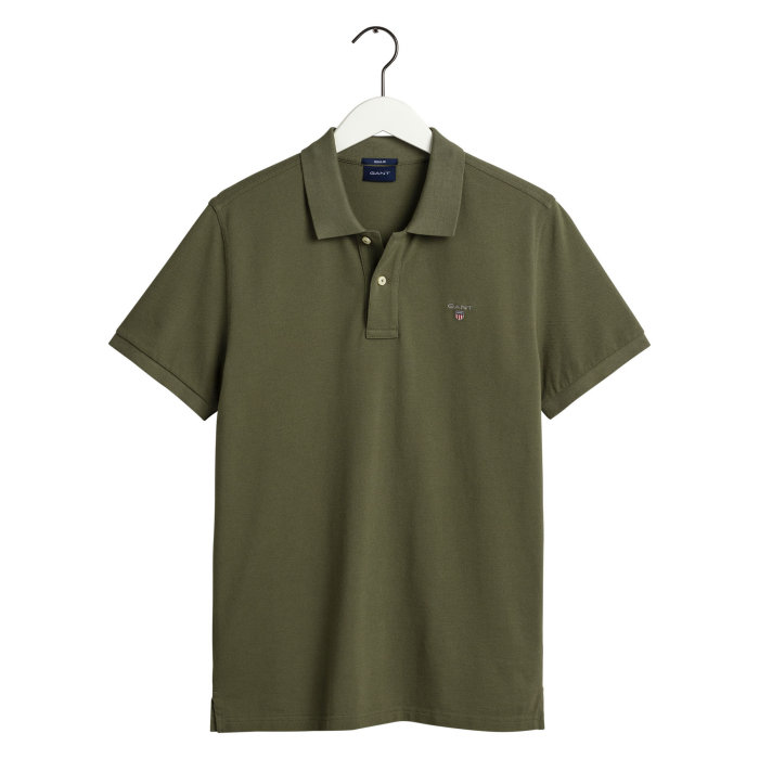 Gant - Gant - Solid Pique Rugger Polo | Polo T-shirt Four Leaf Green