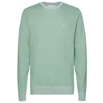 Calvin Klein  - Calvin Klein - Cotton Silk C Neck | Strik Granite Green