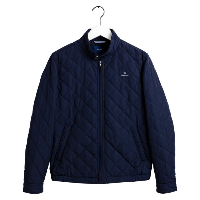 Gant - Gant - Quiltet Windcheater Jacket | Vindjakke Evening Blue