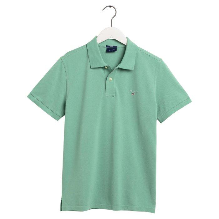 Gant - Gant - Solid Pique Rugger Polo | Polo T-shirt Peppermint