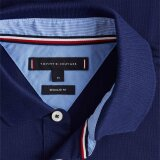 Tommy Hilfiger  - Tommy Hilfiger - Logo Pique | Polo T-shirt Blue Ink