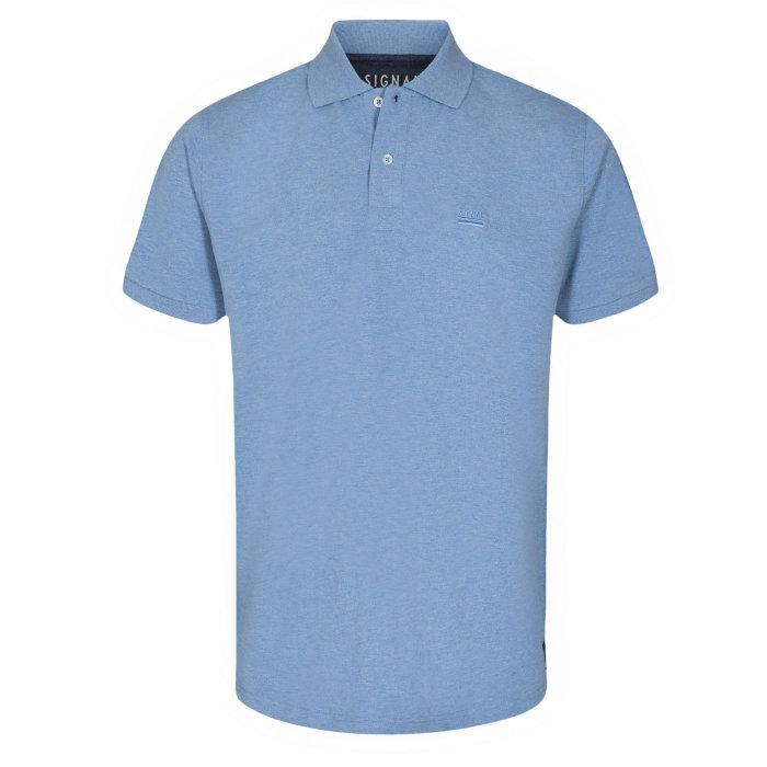 Signal - Signal - Nicky BCI   Polo T-shirt Clear Blue Melange