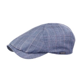 House of Amanda Christensen - Wigens - Newsboy Slim Cap | Kasket Blue Melange