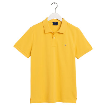 Gant - Gant - Solid Pique Rugger | Polo T-shirt Mimosa Yellow