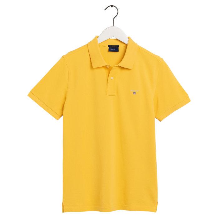 Gant - Gant - Solid Pique Rugger | Polo T-shirt Mimosa Yellow