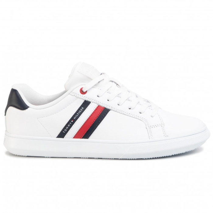 Tommy Hilfiger  - Tommy Hilfiger - Essential Eco Leather Sneaker | Sko White