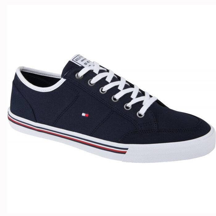 Tommy Hilfiger  - Tommy Hilfiger - Core Corporate Textil Sneaker | Sko Desert Sky