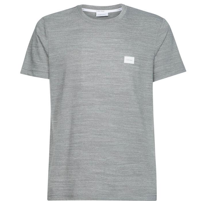 Calvin Klein  - Calvin Klein - Mouline Chest Logo | T-shirt Mid Grey