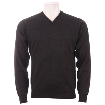 Cosby - Cosby - V-hals Pullover | Strik Antrazit