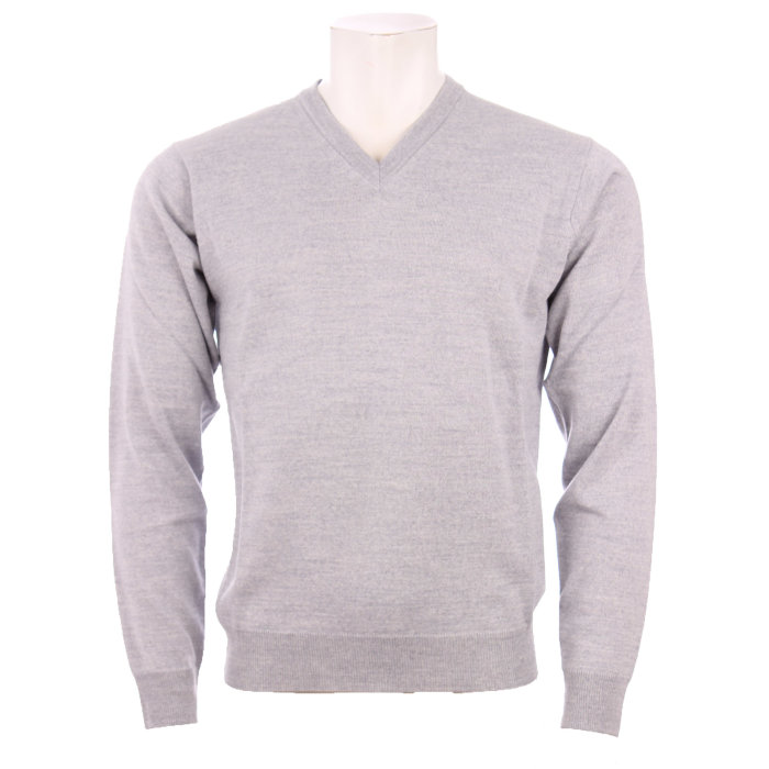 Cosby - Cosby - V-hals Pullover | Strik Lt.grey