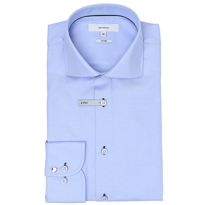 2BLIND2C - 2B2C - Steve S   Skjorte Light Blue