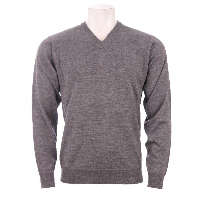 Cosby - Cosby - V-hals Pullover | Strik Mid Grey