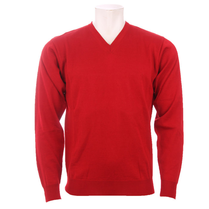 Cosby - Cosby - V-hals Pullover | Strik Red