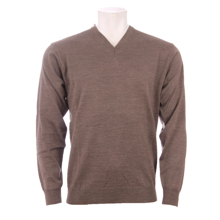 Cosby - Cosby - V-hals Pullover | Strik taupr