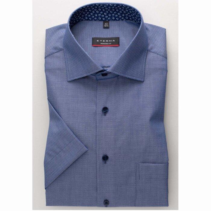 Eterna - Eterna - 2378 C | K/Æ Comfort fit Skjorte 18 Blå